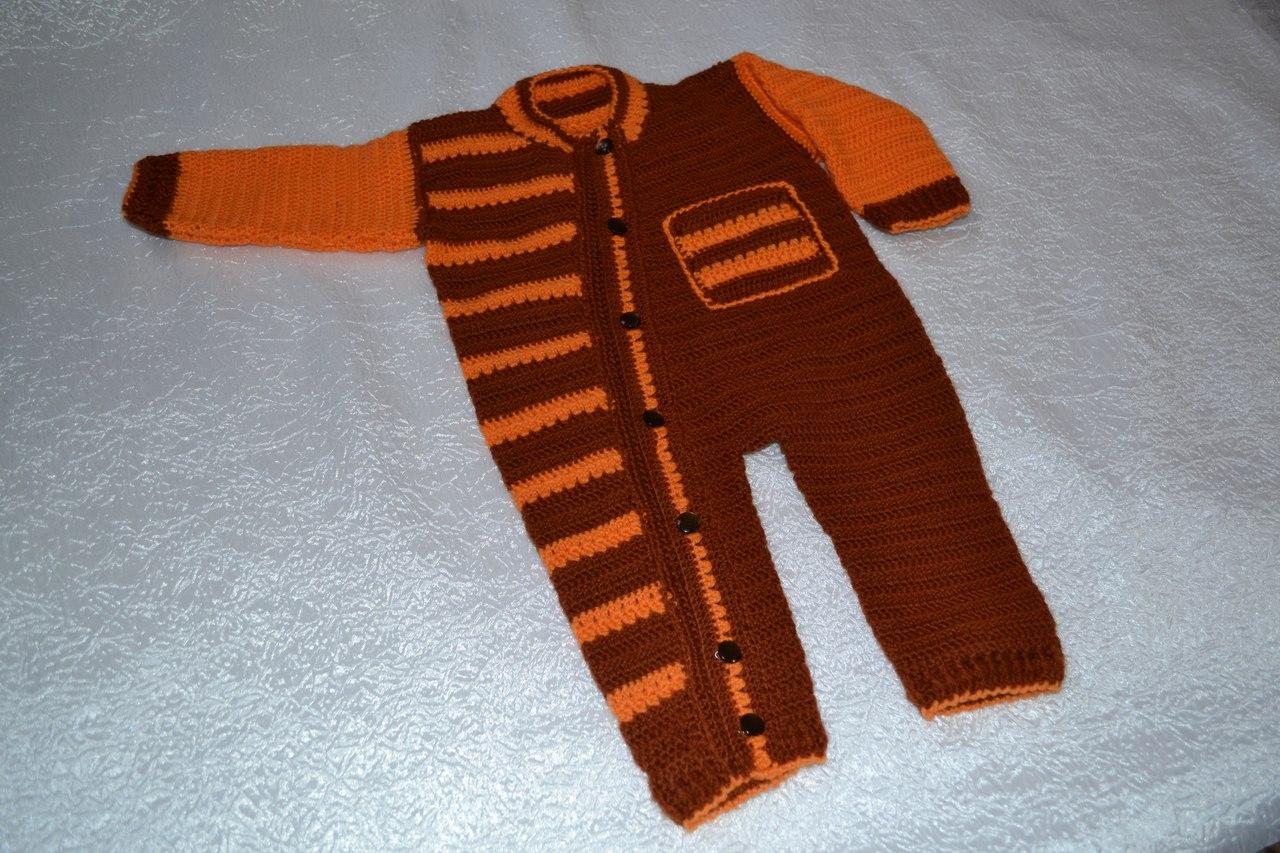 Комбинезон для мальчика вязание на спицах фото